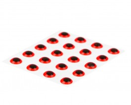 3D Epoxy Eyes, Fluo Red, 2.6 mm