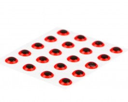 3D Epoxy Eyes, Fluo Red, 3 mm
