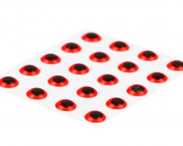 3D Epoxy Eyes, Fluo Red, 3.5 mm