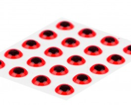3D Epoxy Eyes, Fluo Red, 4.5 mm