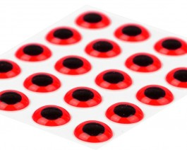 3D Epoxy Eyes, Fluo Red, 6 mm