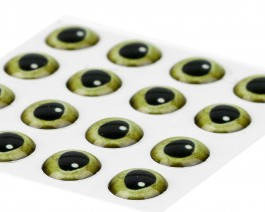 3D Epoxy Eyes, Real Green, 7.5 mm