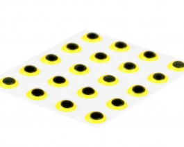 3D Epoxy Eyes, Yellow, 3.5 mm