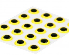 3D Epoxy Eyes, Yellow, 5 mm