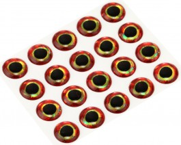 3D Epoxy Fish Eyes, Holographic Bloody, 10 mm