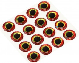 3D Epoxy Fish Eyes, Holographic Bloody, 12 mm