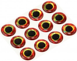 3D Epoxy Fish Eyes, Holographic Bloody, 15 mm