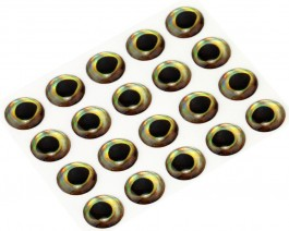3D Epoxy Fish Eyes, Perch, 5 mm