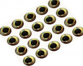 3D Epoxy Fish Eyes, Perch, 6 mm