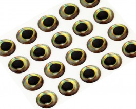 3D Epoxy Fish Eyes, Perch, 7 mm