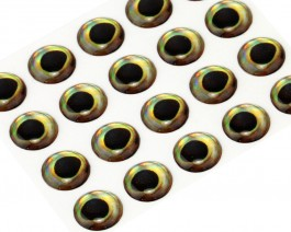 3D Epoxy Fish Eyes, Perch, 8 mm