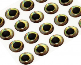 3D Epoxy Fish Eyes, Perch, 9 mm