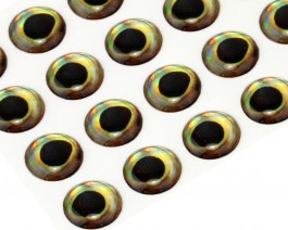 3D Epoxy Fish Eyes, Perch, 10 mm