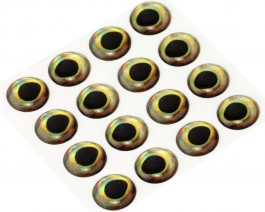 3D Epoxy Fish Eyes, Perch, 12 mm