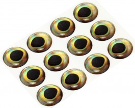 3D Epoxy Fish Eyes, Perch, 15 mm