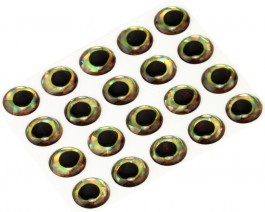 3D Epoxy Fish Eyes, Holographic Perch, 10 mm