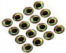 3D Epoxy Fish Eyes, Holographic Perch, 12 mm