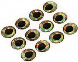 3D Epoxy Fish Eyes, Holographic Perch, 15 mm