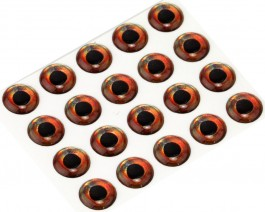 3D Epoxy Fish Eyes, Roach, 5 mm