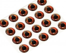 3D Epoxy Fish Eyes, Roach, 6 mm