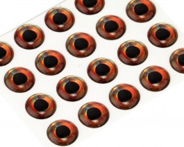 3D Epoxy Fish Eyes, Roach, 8 mm