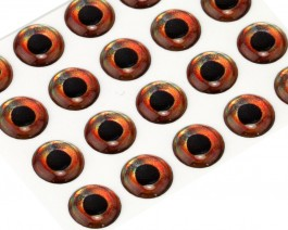 3D Epoxy Fish Eyes, Roach, 9 mm