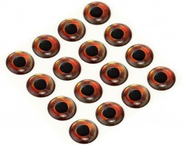 3D Epoxy Fish Eyes, Roach, 12 mm