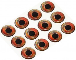 3D Epoxy Fish Eyes, Roach, 15 mm