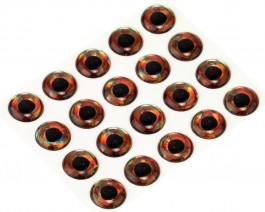 3D Epoxy Fish Eyes, Holographic Roach, 10 mm