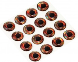 3D Epoxy Fish Eyes, Holographic Roach, 12 mm