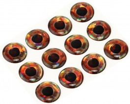 3D Epoxy Fish Eyes, Holographic Roach, 15 mm