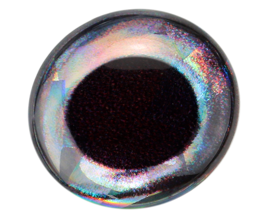 Sybai 3D Epoxy Fish Eyes HOLOGRAPHIC Silber Ø 12 mm SILVER 16 Augen holo