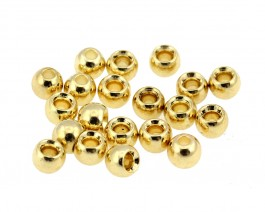 Brass Beads, Gold, 5.5 mm