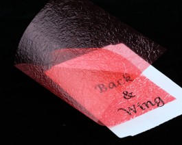 Fine Back & Wing Foil, Crimson Red
