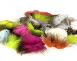 Silver Fox Tail, Medium, Mix Colors
