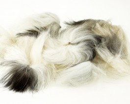 Silver Fox Tail, Medium, Natural Bright