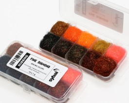 Fine Diamond Dubbing, Box, New Mix Colors