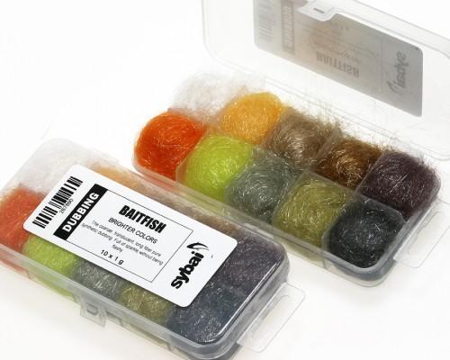 Baitfish Dubbing, Box, Brighter Colors