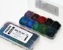 Fine UV Ice Dubbing, Box, Dark Colors