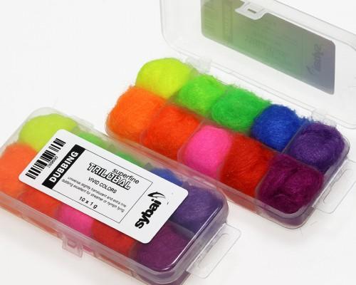 Trilobal Superfine Dubbing, Box, Vivid Colors