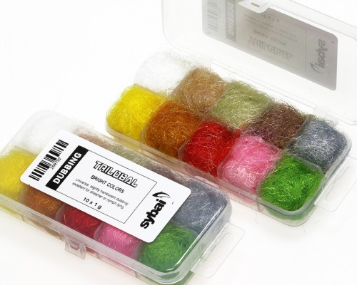 Trilobal Dubbing, Box, Bright Colors