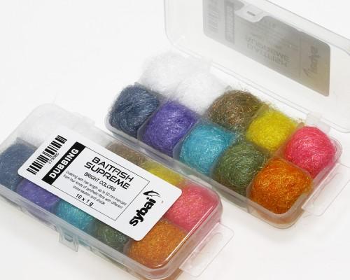 Baitfish Supreme Dubbing, Box, Bright Colors