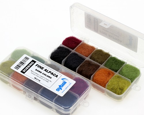 Fine Alpaca Dubbing, Box, Dark Colors