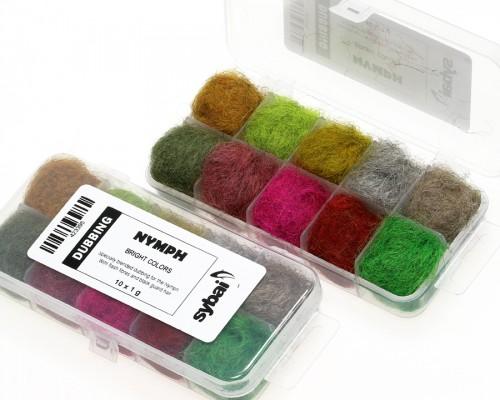 Nymph Dubbing, Box, Bright Colors