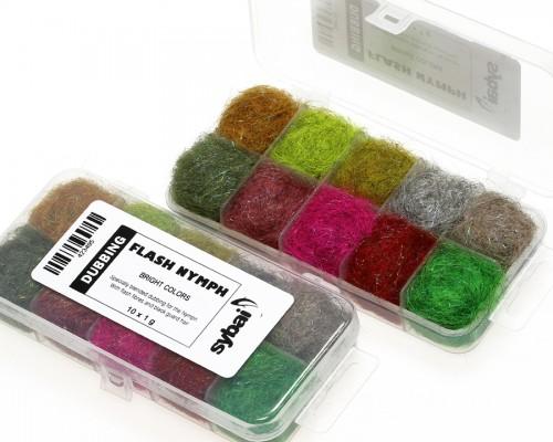 Flash Nymph Dubbing, Box, Bright Colors