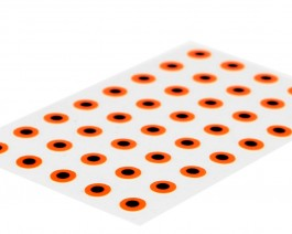 Flat Eyes, Fluo Orange, 2.6 mm