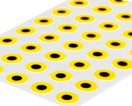 Flat Eyes, Yellow, 5 mm