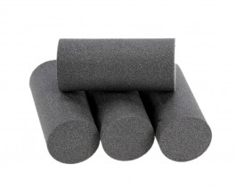 Foam Popper Cylinders, Anthracit, 18 mm