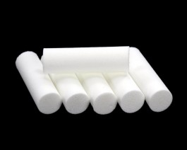 Foam Popper Cylinders, White, 12 mm