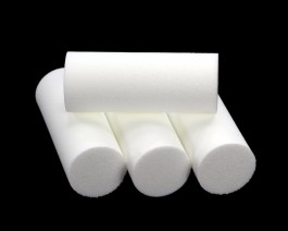 Foam Popper Cylinders, White, 16 mm